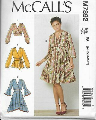 NEW McCall/'s MP583 Sewing Pattern Misses Tops Size 6-8-10-12-14-16-18-20-22