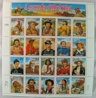 US #2869 Legends of the West. 29¢ MNH Sheet of 20. Issued in 1994 Free Shipping