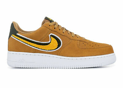 New Designer Nike Air Force 1 '07 Lv8 Suede Brown Muted Bronze Yellow 823511 204 Men's Casual Shoes Sneakers 823511 204