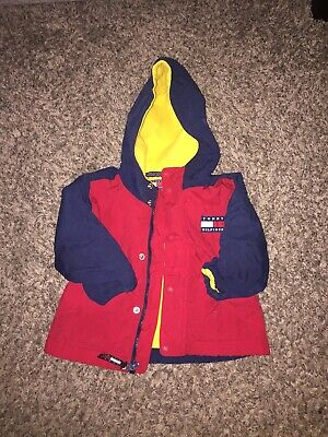 b0d041bc0 VINTAGE BABY BOYS TOMMY HILFIGER Bunting Hooded Snowsuit W/ Mittens ...