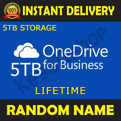 ONEDRIVE 5TB LIFETIME STORAGE CLOUD 5 PC Random Name - Instant Delivery
