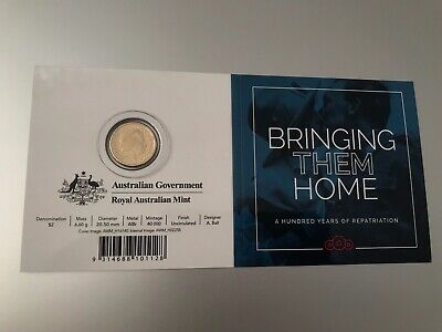 2019 100 years of Repatriation Bringing Them Home $2 Coloured Coin