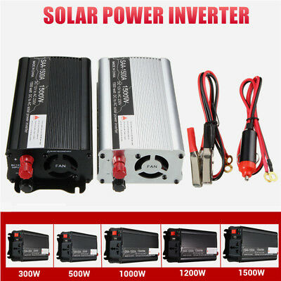 1500W Car Power Inverter DC 12V to AC 110/220V Modified Sine Wave Converter