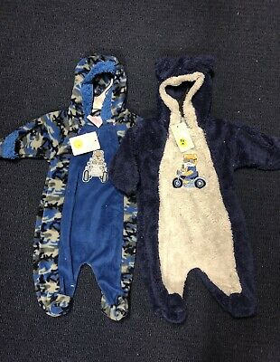 Boys Baby Size 3-6 Months 000 - 00 Outfits Rompers Zip Hooded BNWT Ex Shop Stock