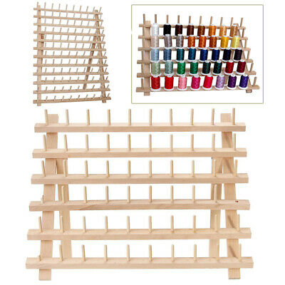 12/60/120 Spools Wood Sewing Thread Rack Stand Organizer Embroidery Holder AU