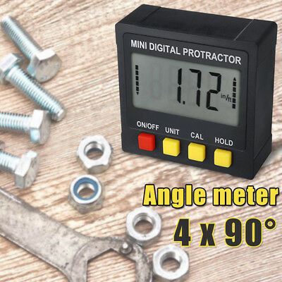 Digital Inclinometer Spirit Level Box Protractor Angle Finder Gauge Meter US