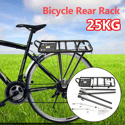 50KG LARGE Carry Bike Rear Seat Rack Bicycle Post Pannier Outdoor Cycling Alloy