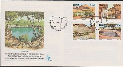 SWA SOUTH WEST AFRICA 1988 -  Sights & Landmarks SG 491-494 MNH TOURISM SCENERY