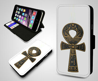 Egypt Toscano Ancient Ankh Egyptian Symbol Flip Wallet Leather Phone Case Cover