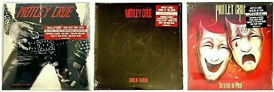 Motley Crue Too Fast for Love Shout at the Devil Theatre of Pain Vinyl in-shrink