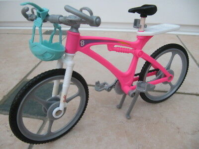 Barbie Doll's Mountain Bike Bicycle Cycle with Helmet and Drink Holder 1998