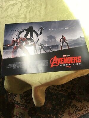 "AVENGERS ENDGAME AMC IMAX MINI POSTER 11"" x 15.5 "" BRAND NEW RARE COLLECTIBLE"