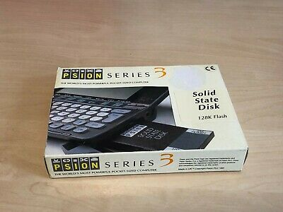 Vintage Boxed PSION Series 3 128K Flash Solid State Disk + Instructions
