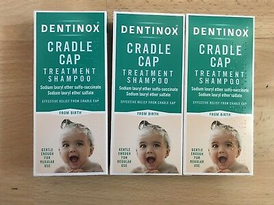BN Dentinox Cradle Cap Treatment Shampoo 125ml X 3 From Birth