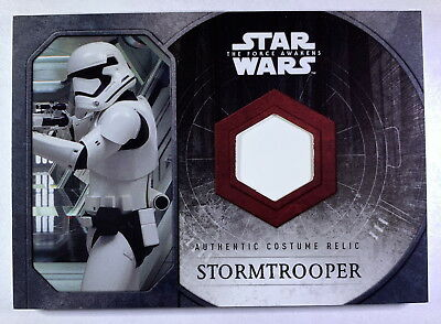"""2015 Star Wars Force Awakens Stormtrooper """"Chest Plate"""" Costume Card"""
