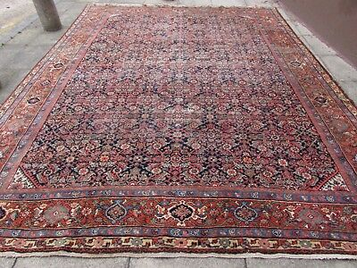 Antique Traditional Hand Made Persian Oriental Wool Blue Large Carpet 415x322cm