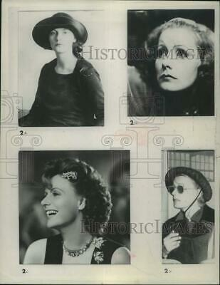 1954 Press Photo Greta Garbo, film actress shown in different roles - lrp16139