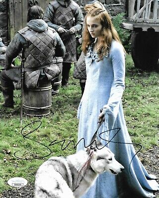 Sophie Turner Game of Thrones Autographed Signed 8x10 Photo JSA COA #25