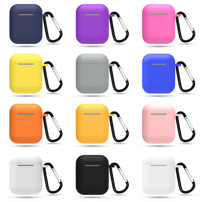 AirPods Silicone Case + Keychain Protective Cover Skin For AirPod Charging Case