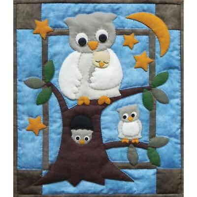 """Owl Family Small Applique Wall Quilt Kit 13"""" x 15"""" By Rachel's of Greenfield NEW"""