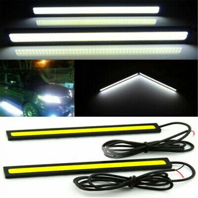 2pcs Waterproof Super Bright Car COB LED White Lights DRL Fog Driving Lamp 12V