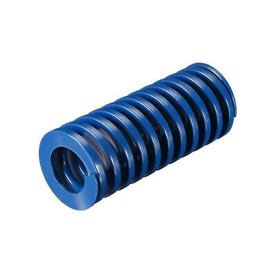 30x70mm Long Spiral Stamping Light Load Compression Mould Die Spring Blue 1Pcs