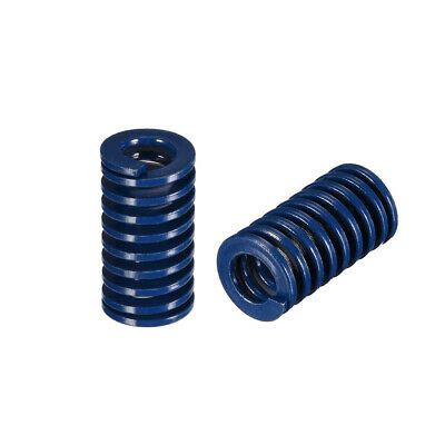 16x30mm Long Spiral Stamping Light Load Compression Mould Die Spring Blue 10Pcs