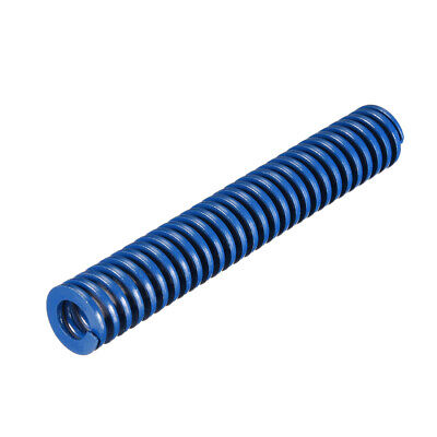 16x 100mm Long Spiral Stamping Light Load Compression Mould Die Spring Blue 1Pcs