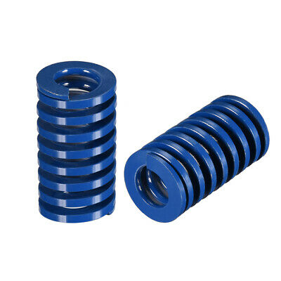 20x 35mm Long Spiral Stamping Light Load Compression Mould Die Spring Blue 2Pcs