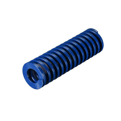 25x 80mm  Spiral Stamping Light Load Compression Mould Die Spring Blue 1Pcs