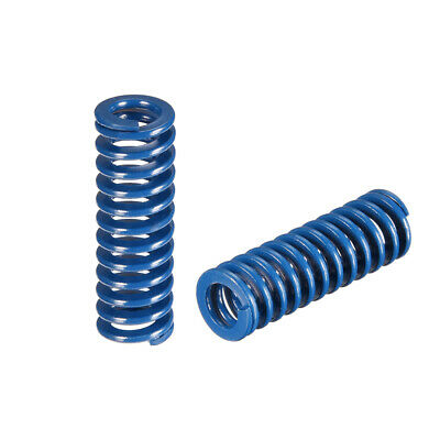 12x40mm Long Spiral Stamping Light Load Compression Mould Die Spring Blue 2Pcs