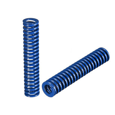 10x 50mm Long Spiral Stamping Light Load Compression Mould Die Spring Blue 2Pcs