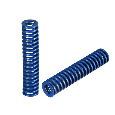 10x 45mm Long Spiral Stamping Light Load Compression Mould Die Spring Blue 2Pcs
