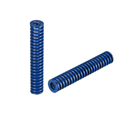 10x 55mm Long Spiral Stamping Light Load Compression Mould Die Spring Blue 2Pcs