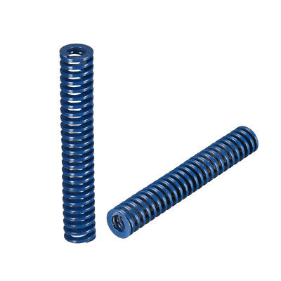 10x 60mm Long Spiral Stamping Light Load Compression Mould Die Spring Blue 2Pcs