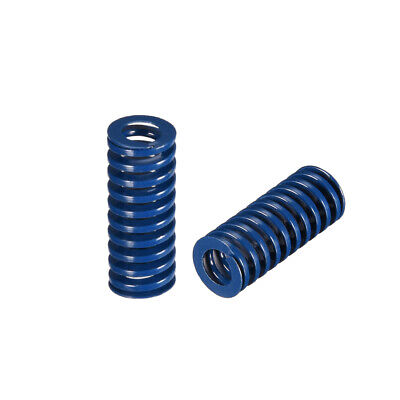 10x 25mm Long Spiral Stamping Light Load Compression Mould Die Spring Blue 2Pcs