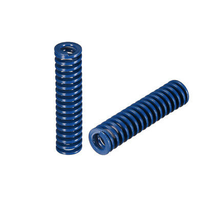 10x 40mm Long Spiral Stamping Light Load Compression Mould Die Spring Blue 2Pcs