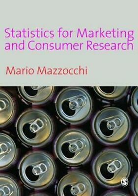 NEW Statistics for Marketing and Consumer Research By Mario Mazzocchi Hardcover