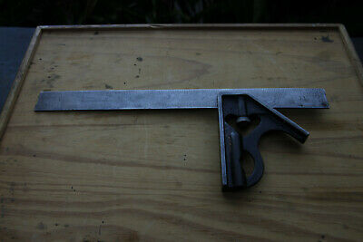 Vintage Millers Falls-12in Combo Square Level No.1200. Old tool