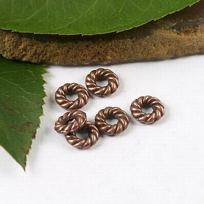 50pcs copper tone  spiral ring spacer charms  h1794