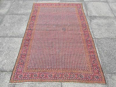 Antique Shabbychic Traditional Hand Made Persian Oriental Wool Red Rug 183x125cm