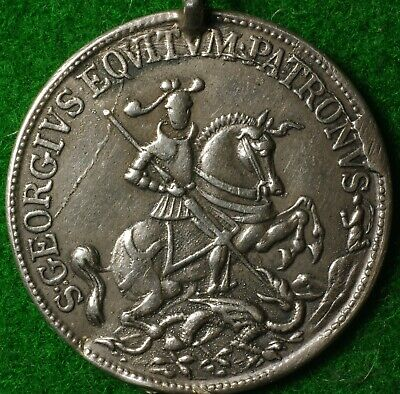 Sailor's Good Luck Charm St George & Dragon Safety in the Storm, poss 18thC 24mm