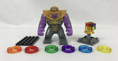 IN STOCK Thanos End Game Minifigure + Infinity Gauntlet Marvel Comics Avengers