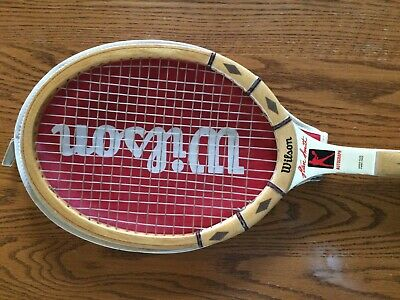 Wilson STAN SMITH AUTOGRAPH Vintage Wood Tennis Racquet with cover