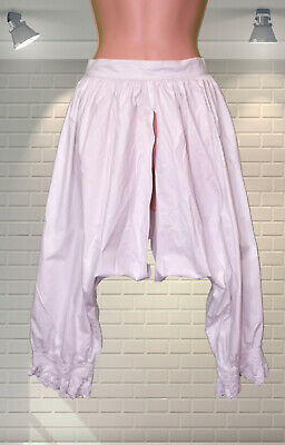 ANTIQUE Bloomers Knickerbockers Open Crotch Edwardian Long Knickers Naughty Maid