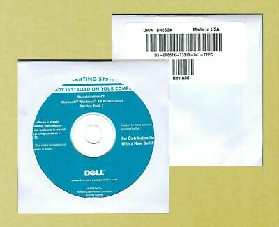 Windows XP Professional 32 bit SP3 CD - Installation Disc for Dell and......