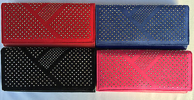 Ladies Girls New Designer Velour Faux Leather  Purse Wallet   With Box
