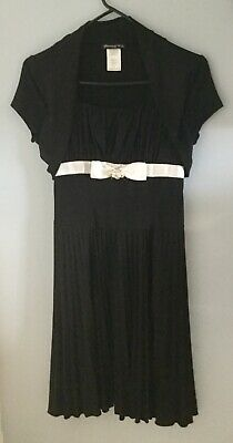 Disorderly Kids Girls Embellished Party Dress Black with bow size 14 nwot