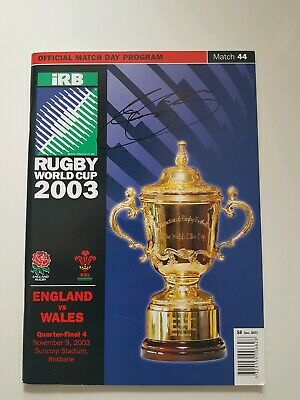 Jason robinson Signed 2003 Rugby World Cup 1/4 Final Programme, England * COA*