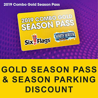 Gold Season Pass Six Flags Over Georgia White Water Digital Discount $47.00 Off